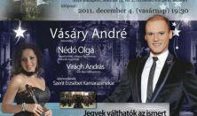Adventi Hangverseny a Magyar Vöröskereszt javára, Vásáry André, Nédó Olga, Virágh András