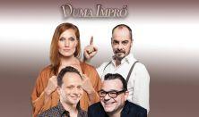 DUMA IMPRÓ - Mogács Dániel, Janklovics Péter, Fodor Annamária, Elek Ferenc, zenész: Pulius Tamás