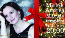 Karácsonyi koncert Malek Andreával a Mátyás-templomban