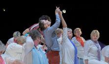 Újratölthető közösségi táncelőadás idősek bevonásával