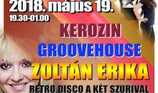 Retro party - Kerozin, Groovehouse, Zoltán Erika