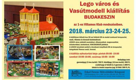 Lego város és Vasútmodell kiállítás BUDAKESZIN