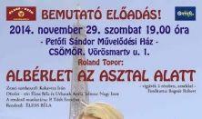 Roland Topor: ALBÉRLET AZ ASZTAL ALATT
