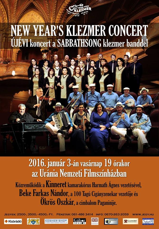 """""""Több mint klezmer"""" - A Sabbathsong Klezmer Band újévi koncertje"""