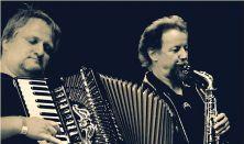 Orosz Zoltán (harmonika) és Borbély Mihály (fúvós hangszerek)