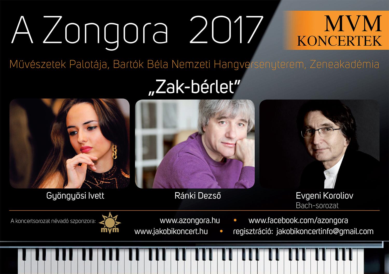 MVM Koncertek - A Zongora - ZAK-bérlet