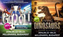 Living Dinosaurs+Gooól! kombinált Családi jegy - bármely időpontban felhasználható