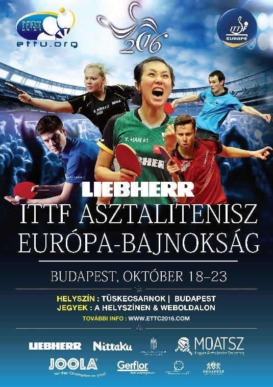 2016 Liebherr ITTF Asztalitenisz Európa-bajnokság / BÉRLET / 1-3.nap