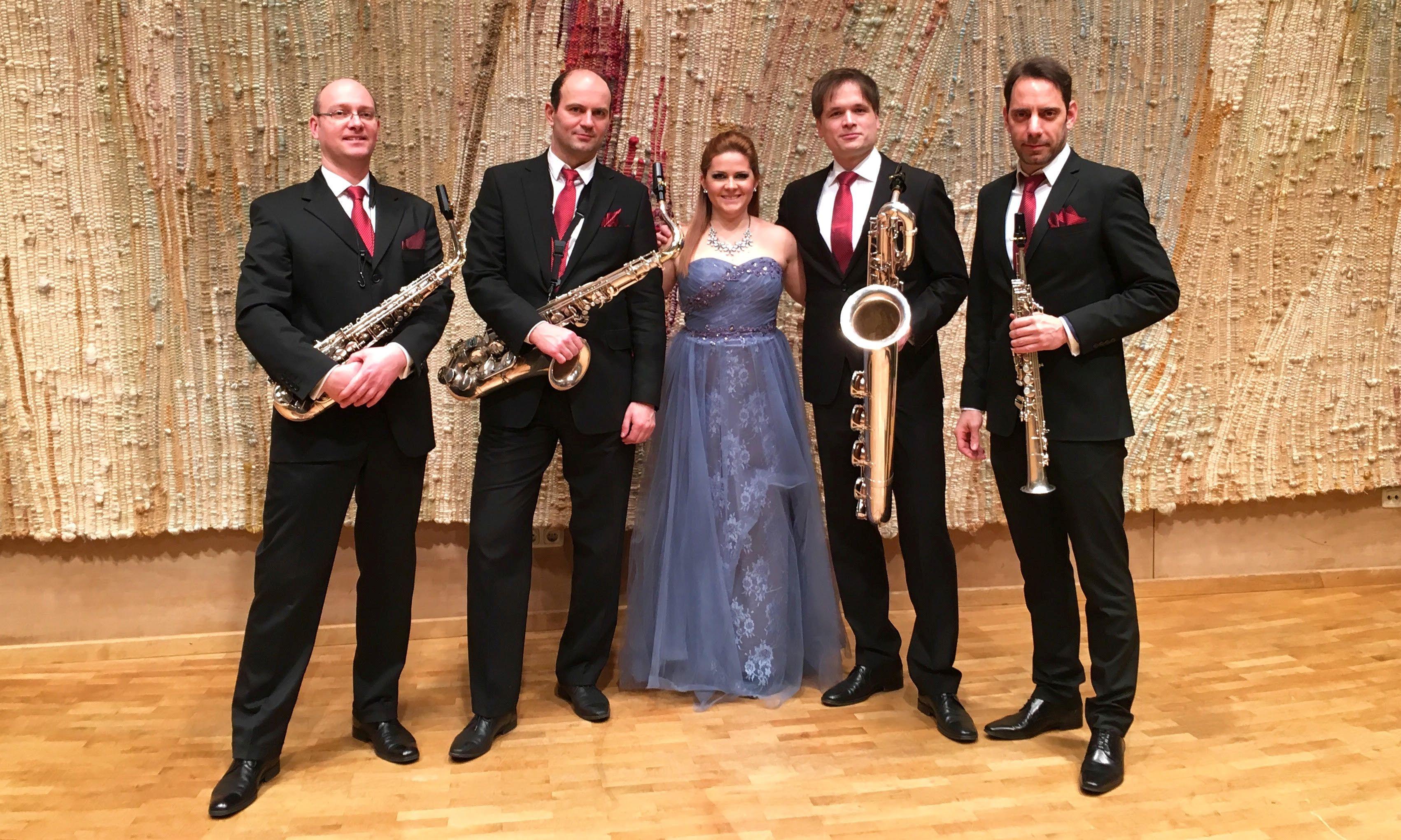 Szemere Zita és a Budapest Saxophone Quartet koncertje