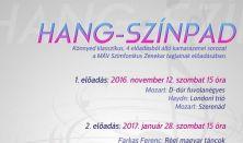 HANG-SZÍNPAD kamarezenei sorozat 1. előadás