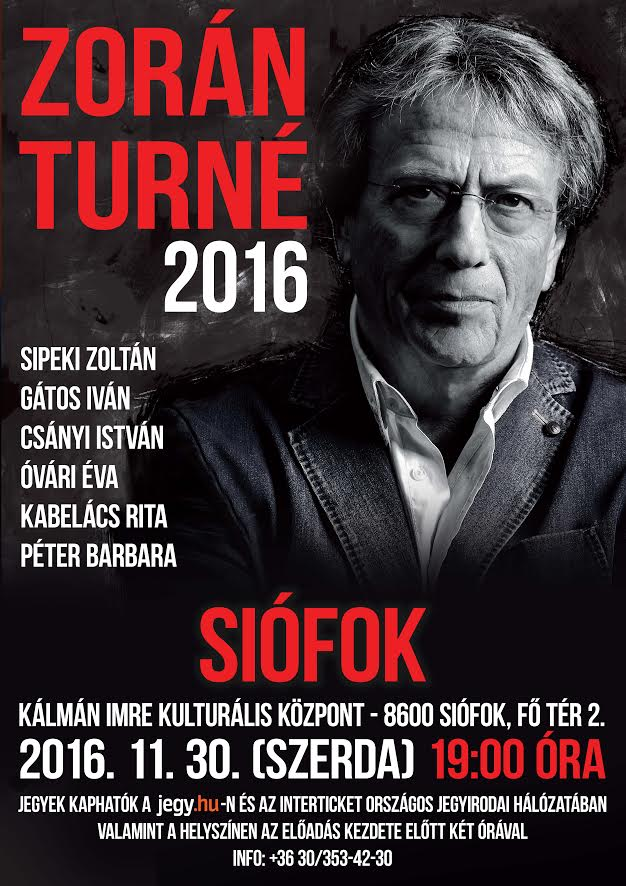 Zorán turné 2016
