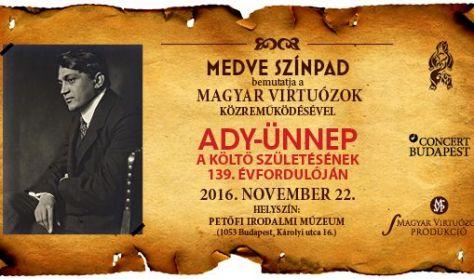 Ady-ünnep a költő születésének 139. évfordulája - A Medve Színpad és a Magyar Virtuózok műsora