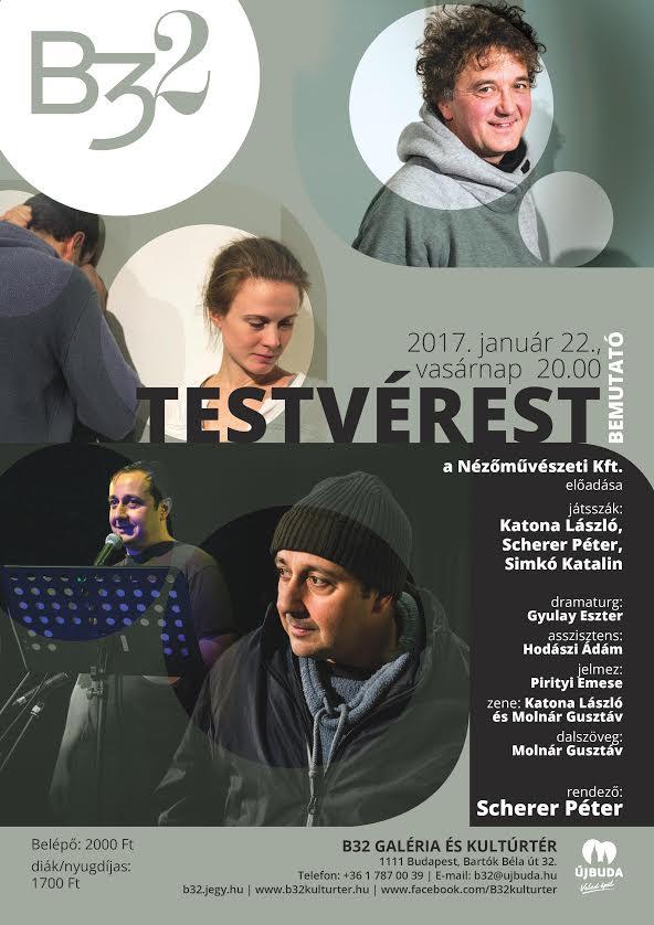 Nézőművészeti Kft.: TESTVÉREST - Bemutató