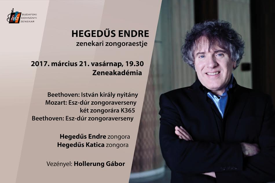 Hegedűs Endre zenekari zongoraestje, Km. Budafoki Dohnányi Zenekar, Vez. Hollerung Gábor,