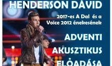 HENDERSON DÁVID ADVENTI AKUSZTIKUS ELŐADÁSA