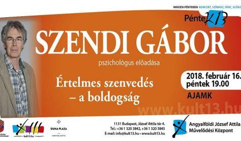 PénteK13 – Szendi Gábor pszichológus előadása – Értelmes szenvedés – a boldogság