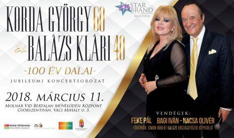 Korda György és Balázs Klári – 100 év dalai / Jubileumi koncert Győr
