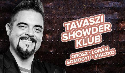 """Showder Klub felvétel - Orosz György, Lorán Barnabás """"Trabarna"""", Somogyi András, Maczkó Ádám"""