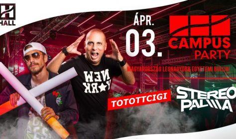 CAMPUS Party-Tőtöttcigi, Stereo Palma//DE hallgatói