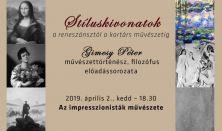 Az impresszionisták művészete - Gimesy Péter művészettörténész előadássorozata