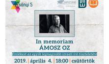 In memoriam Ámosz Oz - Emlékest az egyik legnagyobb izraeli író tiszteletére