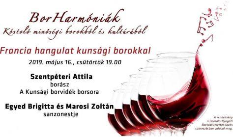 BorHarmóniák - Francia hangulat kunsági borokkal