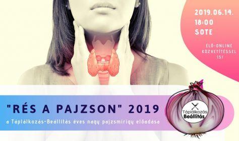 """""""Rés a pajzson"""" 2019 - a Táplálkozás-Beállítás éves nagy pajzsmirigy előadása"""