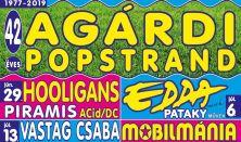 Agárdi Popstrand 2019 - HOOLIGANS, PIRAMIS, ACid/DC