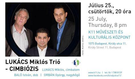 CIMBIÓZIS - Lukács Miklós Trió jazz koncert
