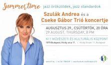 SZULÁK Andrea és a CSEKE Gábor Trió jazz koncertje