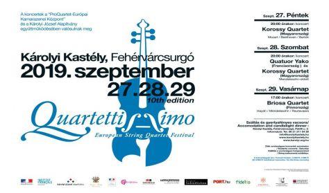 Quartettissimo - Vonósnégyes Fesztivál - Quatuor Yako és Korossy Quartet - Szombati napijegy