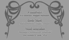 Vasak varázsában - Görbe Márk művészettörténész előadás sorozata