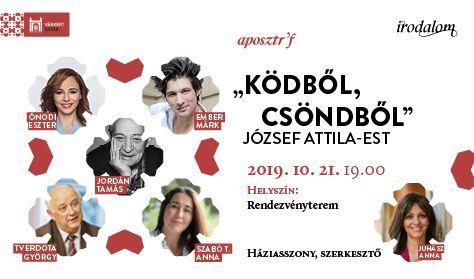"""APOSZTRÓF - """"Ködből, csöndből"""" - József Attila-est – Várkert Irodalom"""
