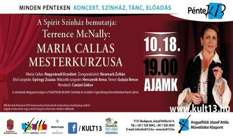 PénteK13 – Terrence McNally: Maria Callas mesterkurzusa