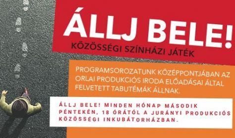 ÁLLJ BELE! Közösségi színházi játék VELÜNK ÉLŐ ERŐSZAK Játszótárs: Keszég László