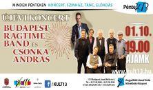 PénteK13 – ÚJÉVI KONCERT – Budapest Ragtime Band és Csonka András