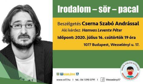 Irodalom - sör - pacal Beszélgetés Cserna Szabó Andrással