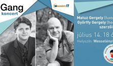 Gangkoncert Matuz Gergely és Győrffy Gergely szerzői estje