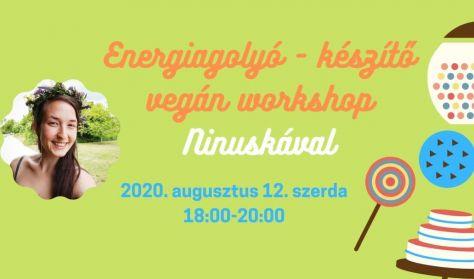 Energiagolyó - készítő vegán workhop