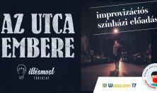 Az utca embere improvizációs színházi előadás