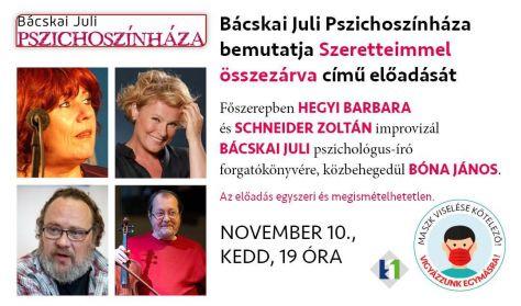 Bácskai Juli Pszichoszínháza // november