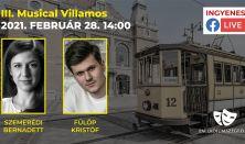 Musical Villamos - 50 perces Élő online musical műsor Szegedről