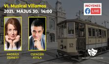 Musical Villamos - Élő online musical műsor Szegedről 14:00-15:00 h