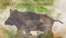"""""""EGY A TERMÉSZETTEL"""" Vadászati és Természeti Világkiállítás - Bérlet 20 nap / 20-day pass"""