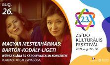 Magyar mesterhármas: Bartók-Kodály-Ligeti - Würtz Klára és Károlyi Katalin koncertje