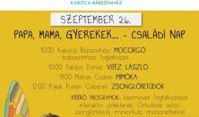 Kabóca Bábszínház - Mocorgó (babaszínházi foglalkozás) - Papa, mama, gyerekek családi nap