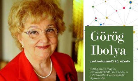 Az étkezés protokollja - Görög Ibolya sorozata