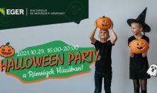 EKMK:HALLOWEEN PARTY-A RÉMSÉGEK HÁZÁBAN.(ijesztő arcfestés,rémisztő tökfaragás,szabadulószoba)